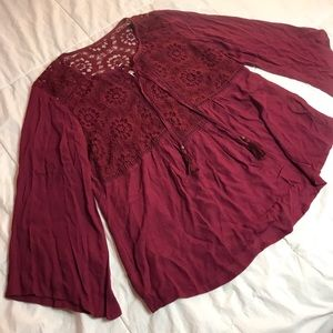 New W/ Tags Maroon Blouse